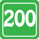 200 Mile Badge